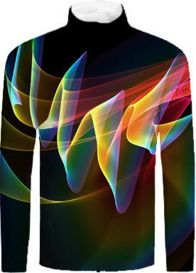Northern Lights Abstract Fractal Rainbow Aurora