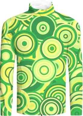 Retro Mod Green Abstract Circles