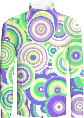 Retro Mod Purple and Green Circles