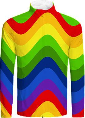 Retro Mod Wavy Rainbow Abstract