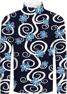 Swirly Blue Floral