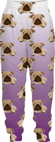 Funny Pugs on Purple Gradient