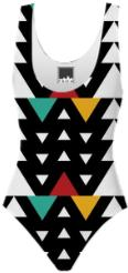 African Triangle Love Swimsuit