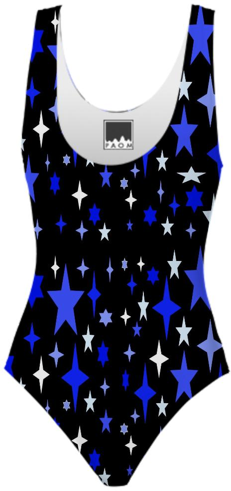 Blue Atomic Star Swimsuit