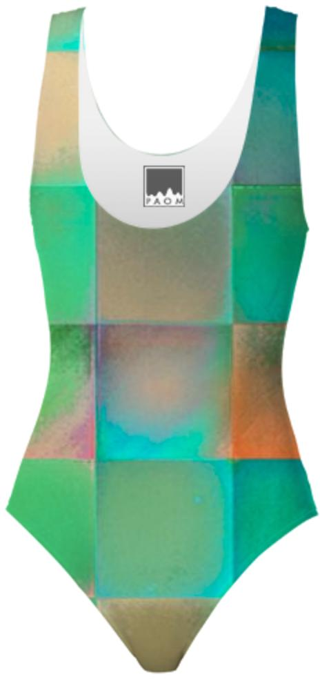 CHECKED DESIGN II Swimsuit I