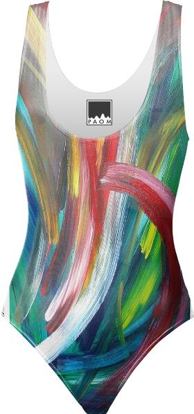 One piece swimsuit Rainbow