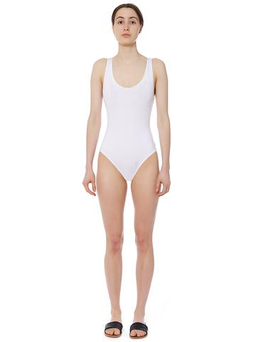 One Piece Swimsuit in White