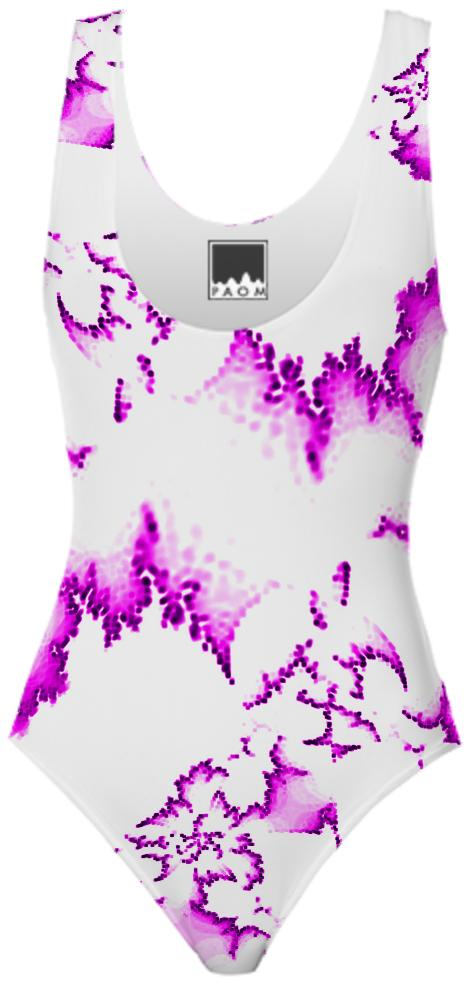Pink White Fractal Swimsuit