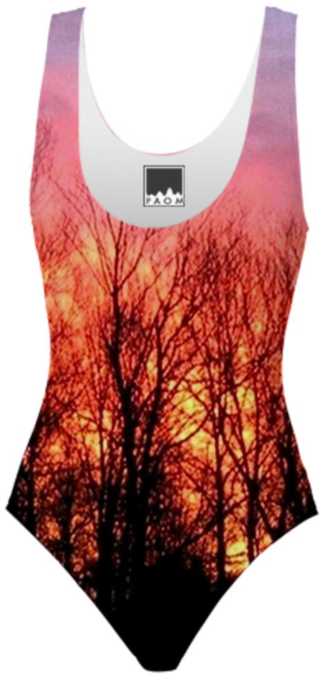 Sunrise through the Trees Swimsuit