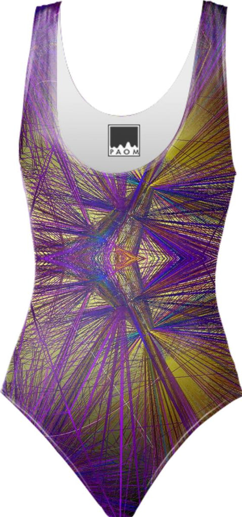 wireframe one piece swimsuit yp