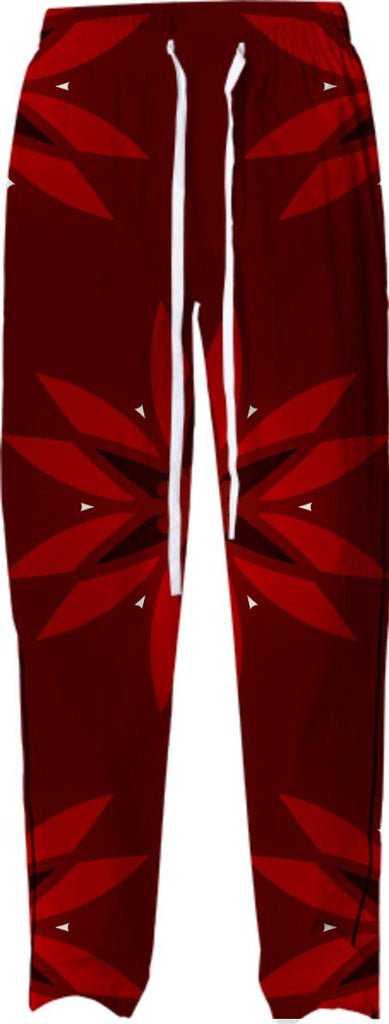 Red Christmas Flower Pajama Pant