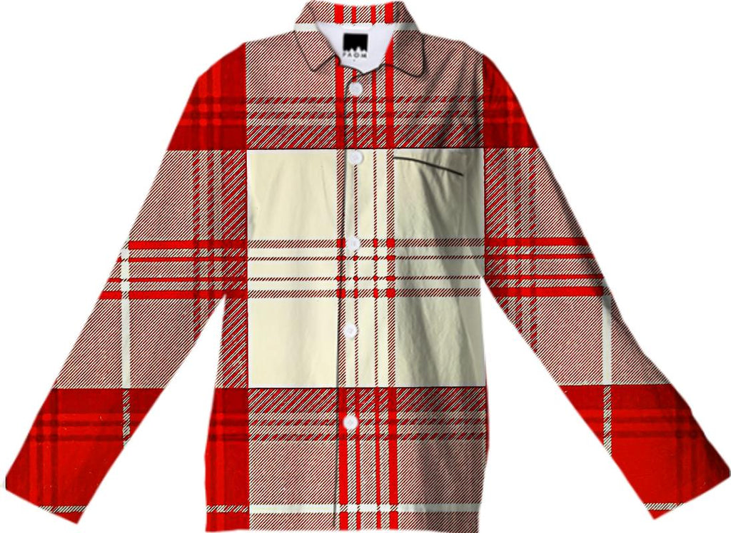 red and white tartan
