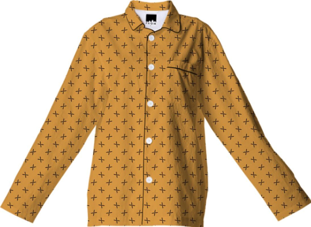 Yellow Pattern Pajama Top