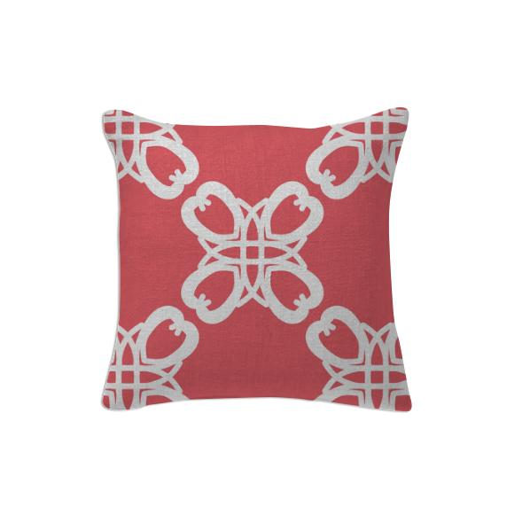4 Hearts Peach Pillow