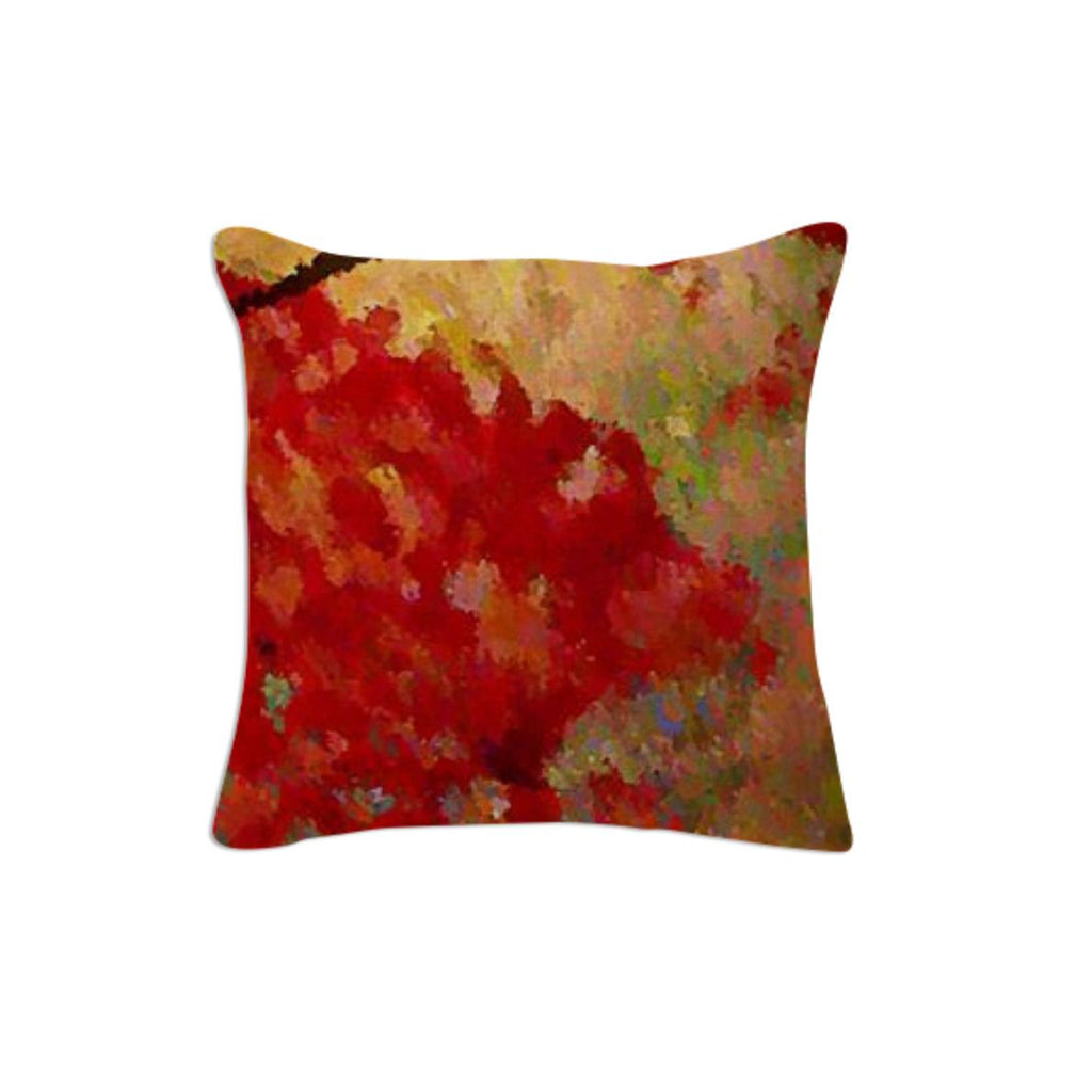 Abstract Fall Leaves Pillow