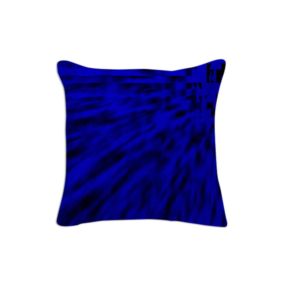 Black Ocean Blue Throw PIllow
