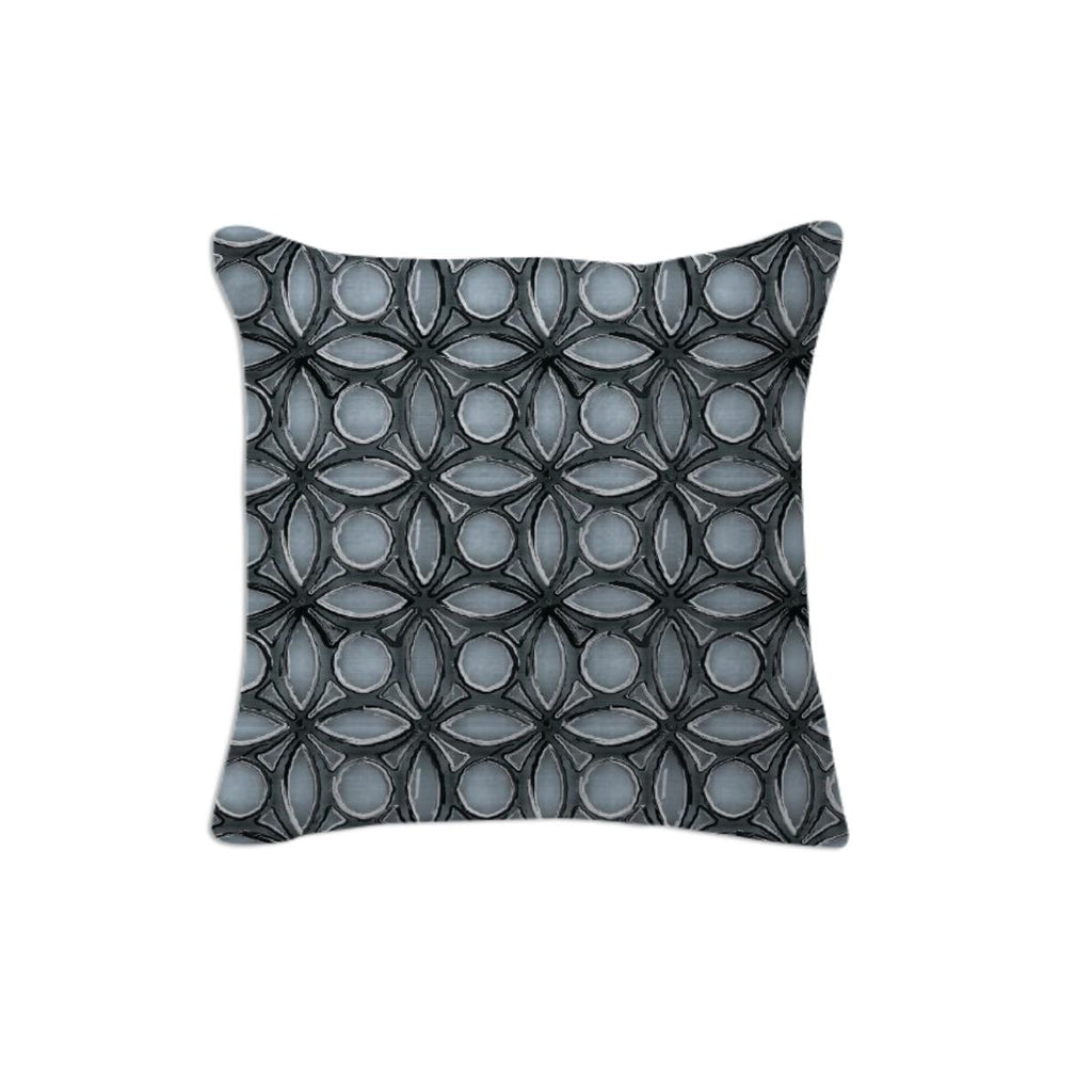 Blue and Black Print Pillow