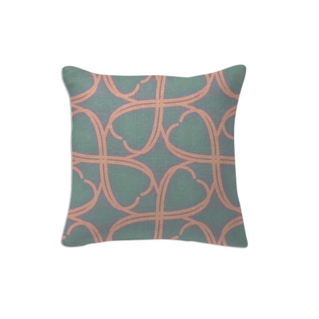 Blue and Green Pastel Pillow