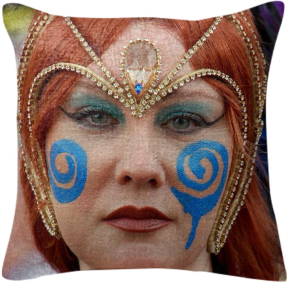 Boudica Blue Pillow