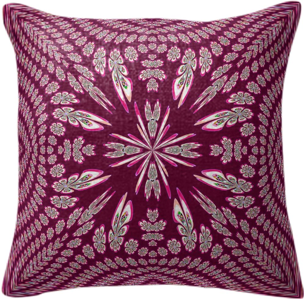Burgundy Flower Surprise Pillow
