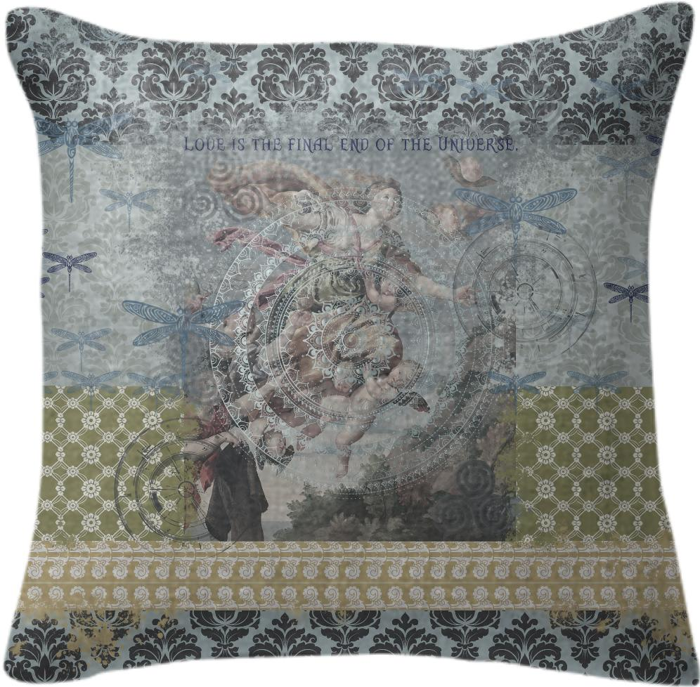 Dragonfly Blue Collection Pillow Design