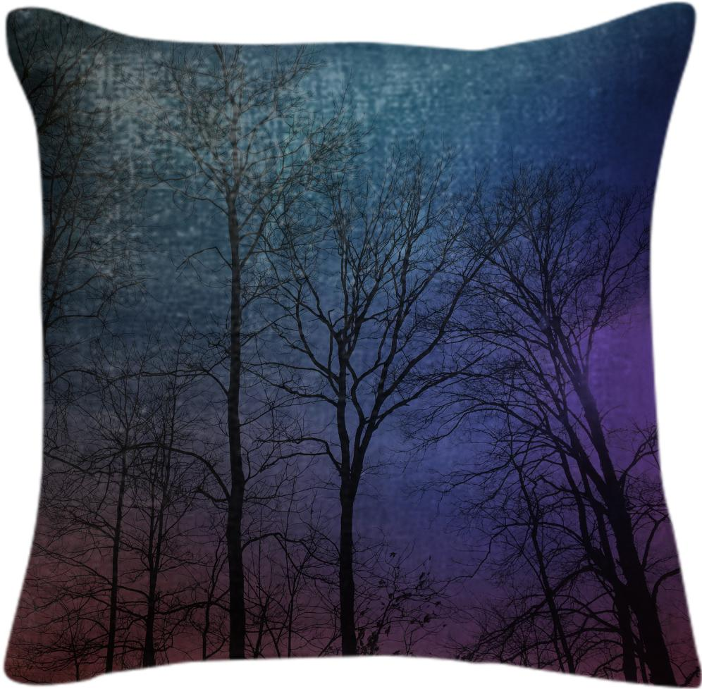 Galaxy In The Woods Pillow
