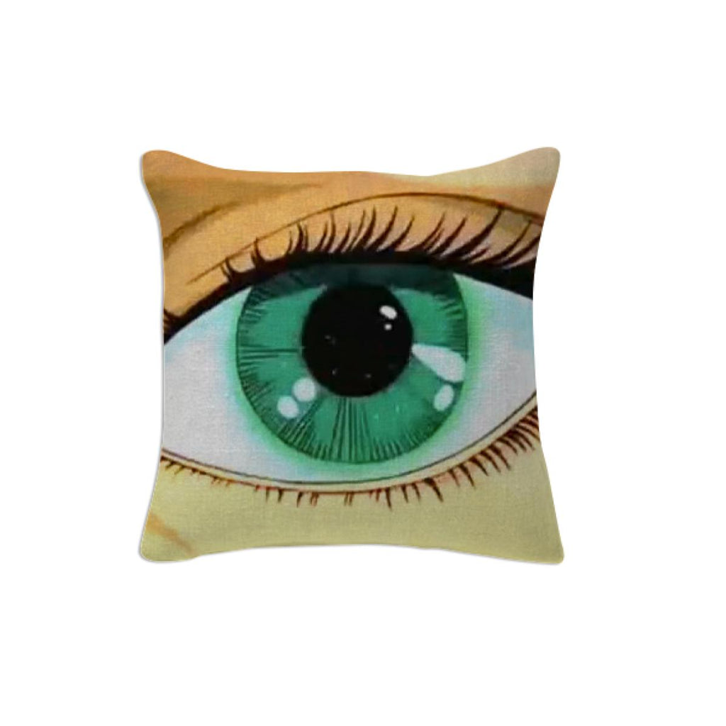 Green eyes pillow