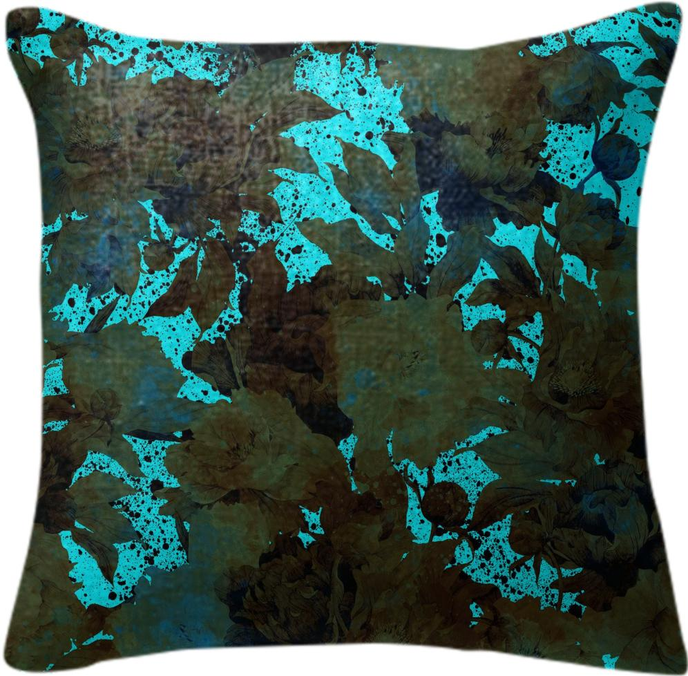 MAGIC FORREST BLUE PILLOW