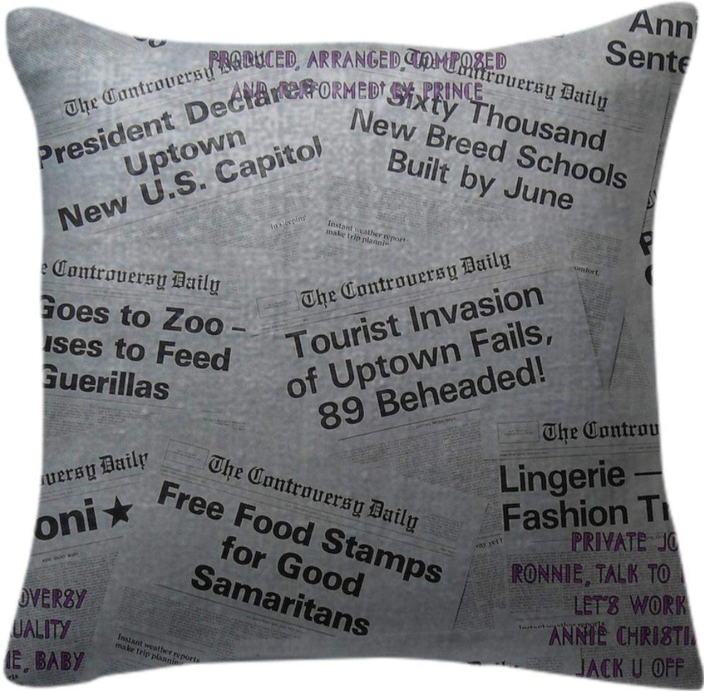 Prince Controversy Back Cover Pillow