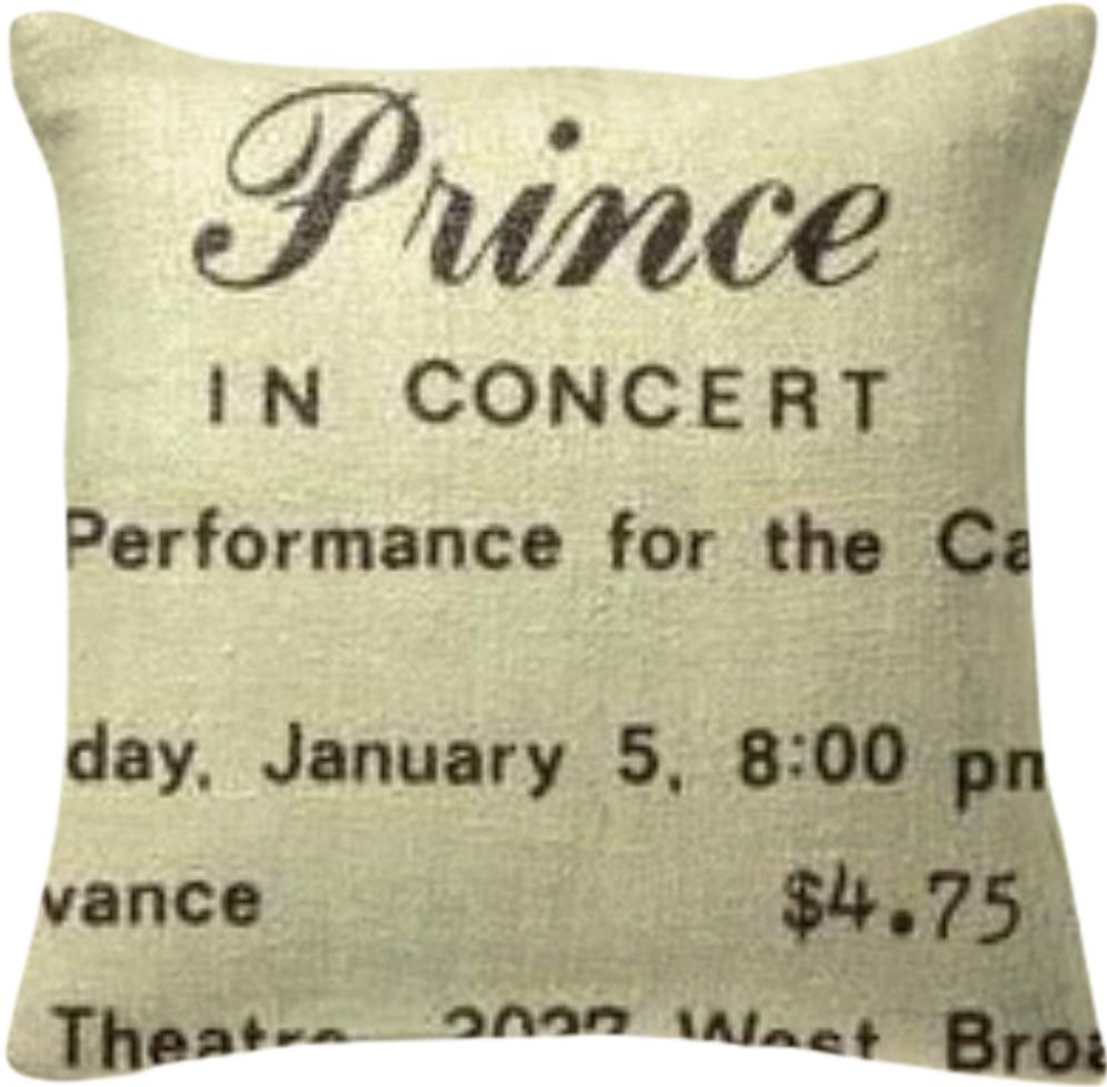 Prince in Concert Pillow