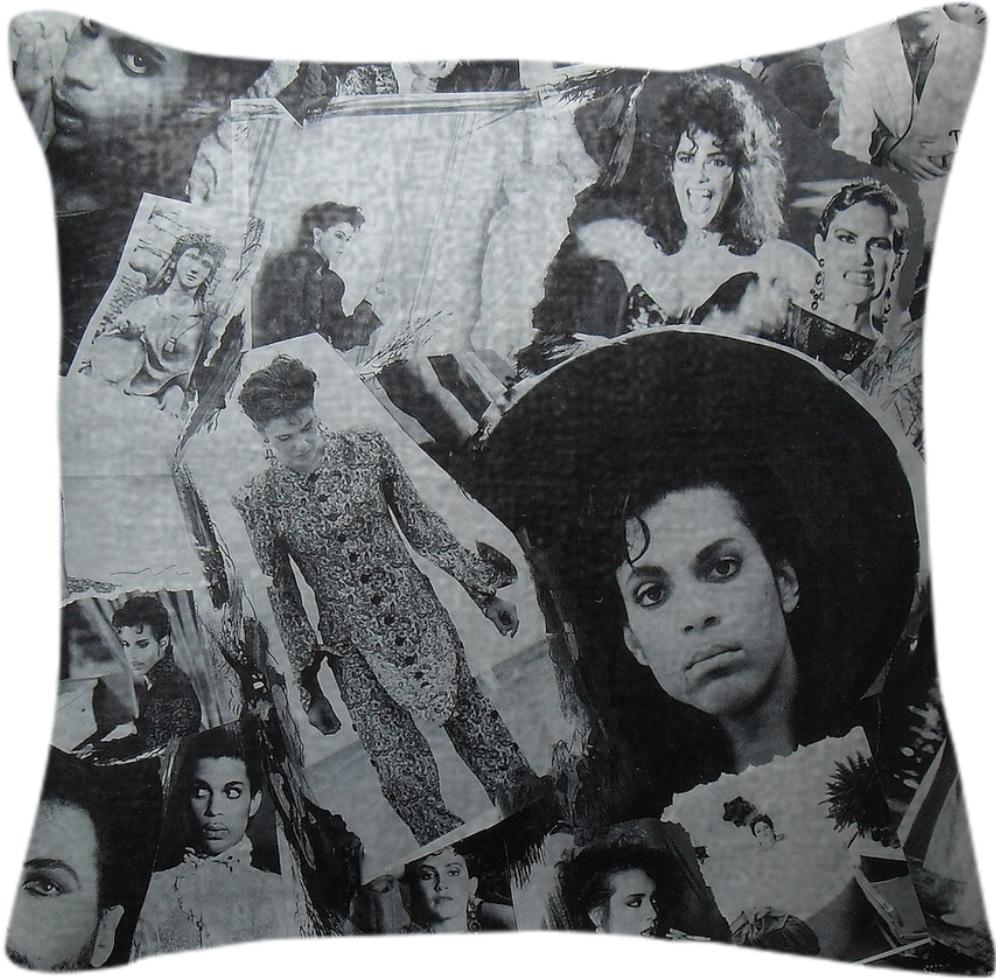 Prince Parade Collage Pillow