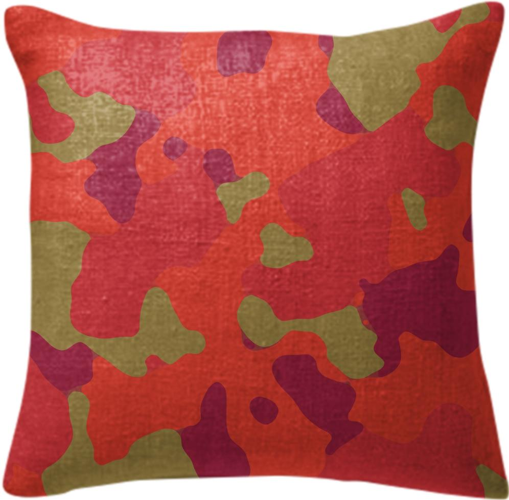 RED CAMOUFLAGE PILLOW