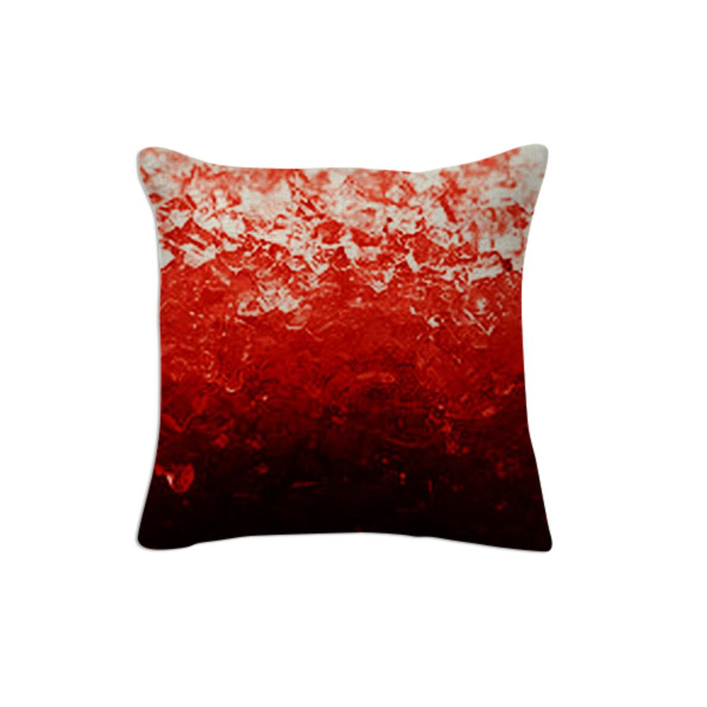 Red Ombre Crystal Throw Pillow 2