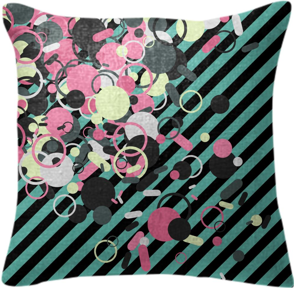 Striped Invaders Cushion