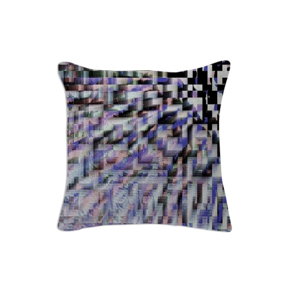 Subtle Pixel Haze Throw Pillow