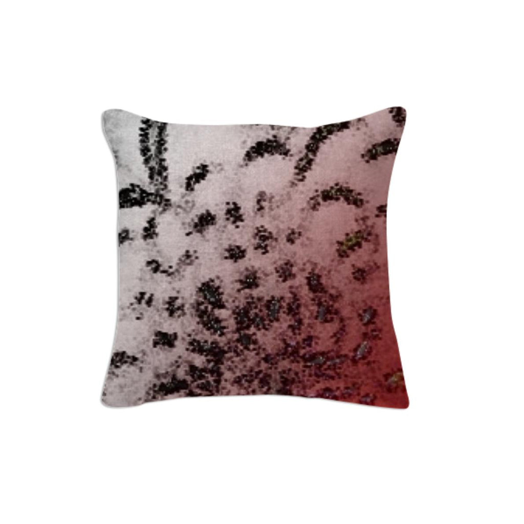 Throw Pillow spotted with a touch of Red