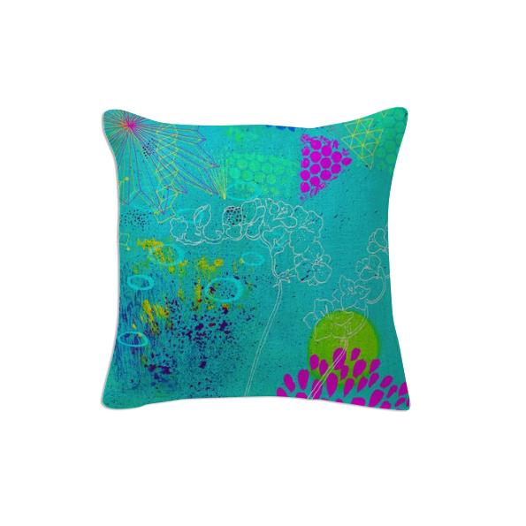 Turquoise POP cushion