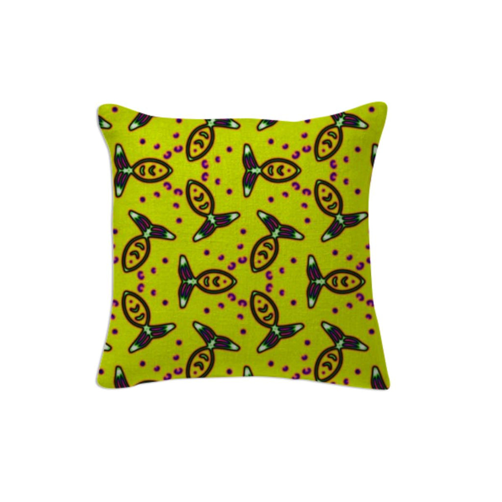 Yellow Fish Pillow