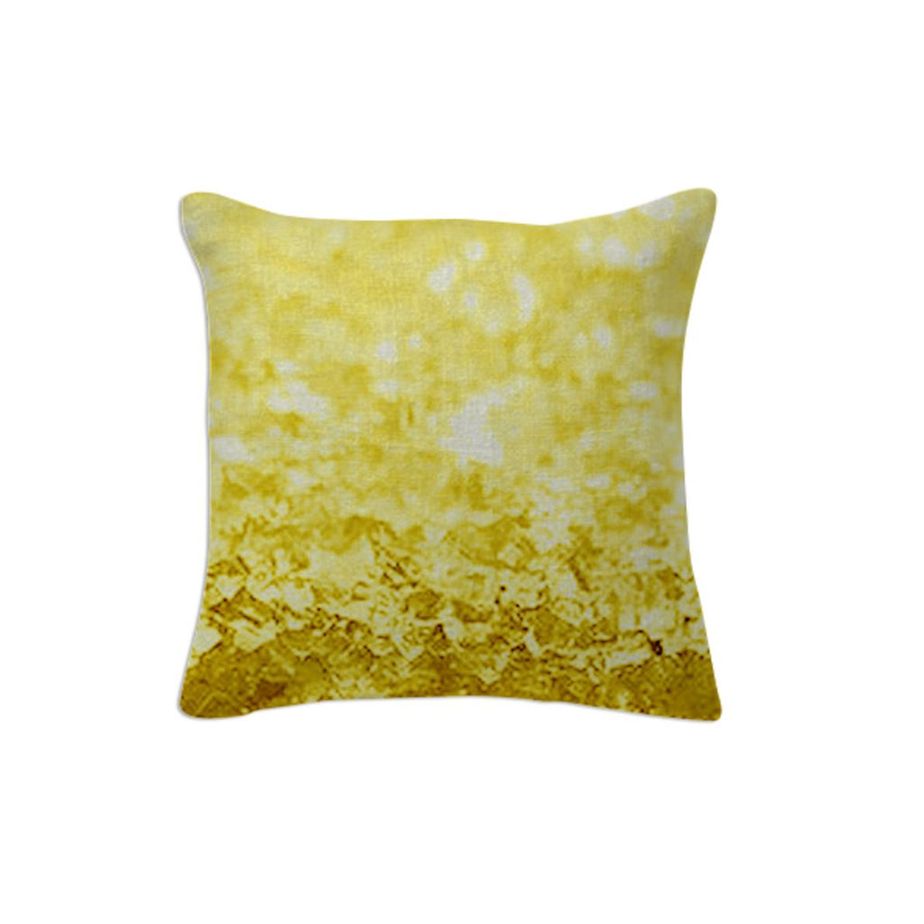 Yellow Gold Crystal Throw Pillow