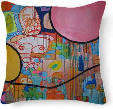 A Landscape From Memory Pillow by Pete Nawara