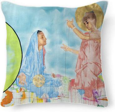 Annunciation Pillow by Pete Nawara