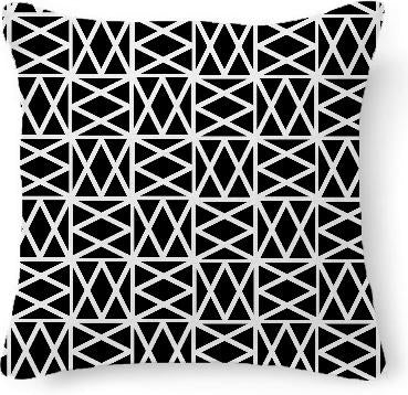 Black and white geometric criss cross