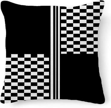 Black and white quartered check stripe