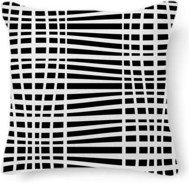 Black and white swerved stripe pattern
