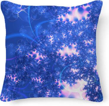 Blue Pink Delicate Abstract Cosmic Growth Osmosis