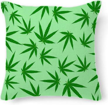 Cannabis leaf on green by Valxart