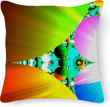 Crystal Sunrise Abstract Fractal Rainbow