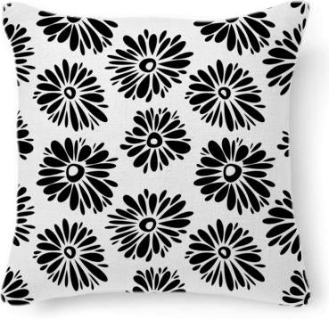 Funky black and white flowers
