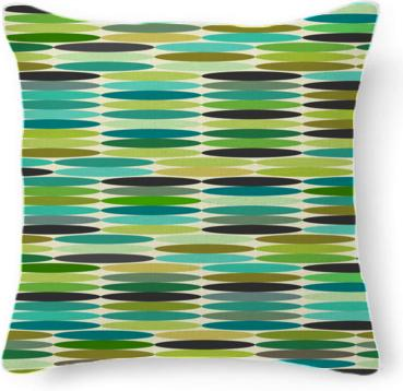 Green and turquoise vintage abstract pattern