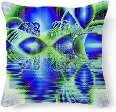 Irish Dream under Abstract Fractal Cobalt Blue Skies